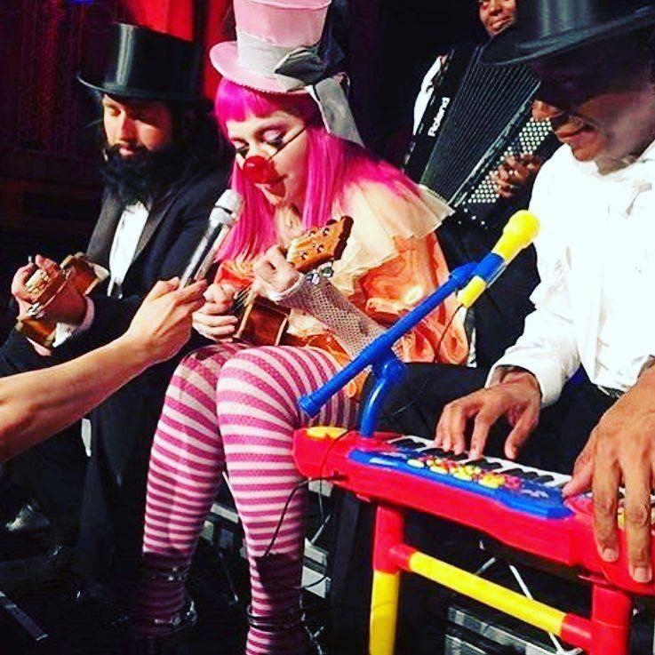 Madonna en uno de sus últimos conciertos de  su Rebel Heart Tour.