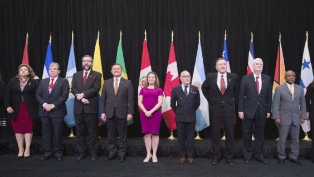 Grupo de Lima busca promueve legitimación de representante diplomático de Guaidó