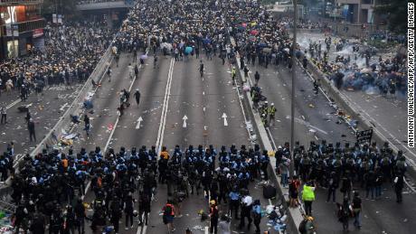 La misión permanente de China ante la ONU acusó a los manifestantes de vincularse al terrorismo