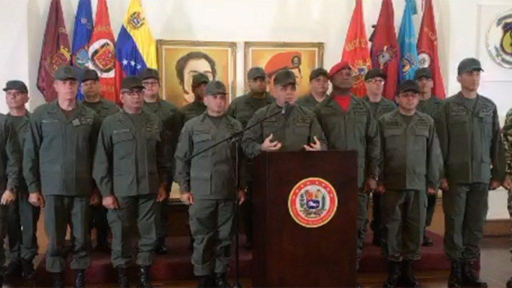 El cuerpo castrense aseguró que defenderá el territorio venezolano ante las pretensiones injerencistas de EE.UU.