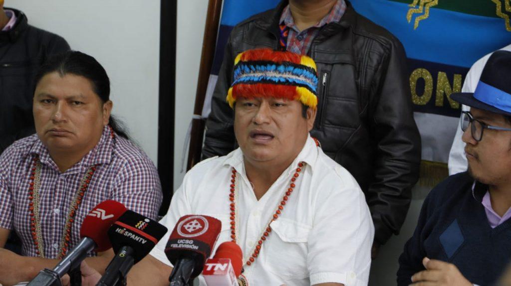 El presidente del CONAIE aseguró que se emprendió una persecución en contra de los líderes indígenas