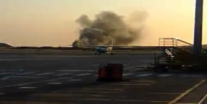 Dos personas resultaron con quemaduras tras precipitarse avioneta en Porlamar