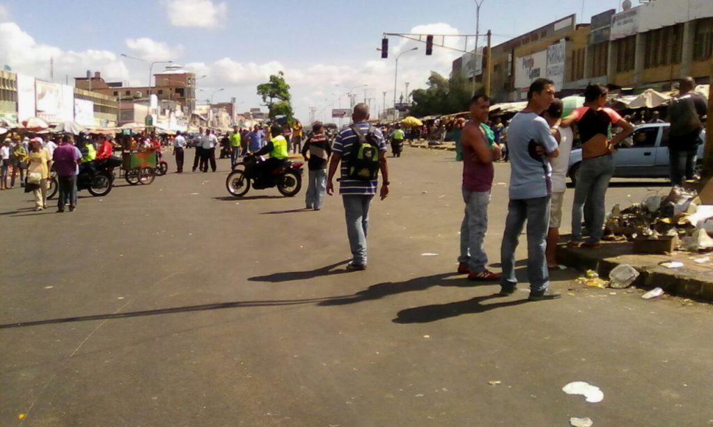 situación irregular en el centro de Maracaibo
