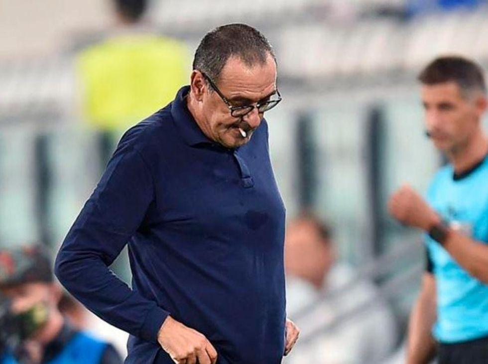 Sarri tomó las riendas de la Juventus al comienzo de la temporada en sustitución de Massimiliano Allegri