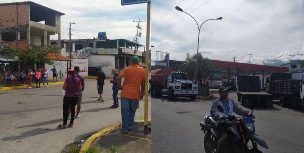 Protestas por fallas en el suministro de gasolina y gasoil